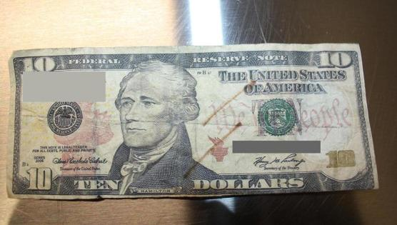 Single counterfeit bill