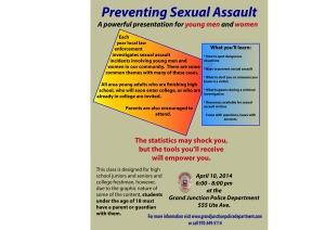 Sexual Assault Prevention class flyer 04-10-14
