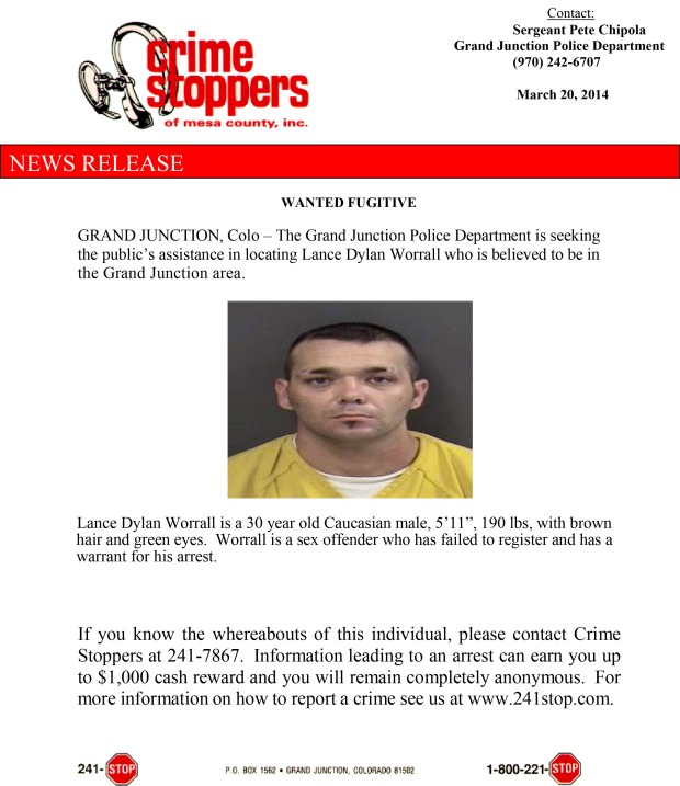 Wanted Fugitive- Worrall 042014