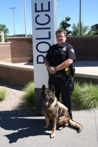 Ofc. Earthman and K9 Joker in his new vest