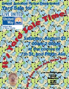 Public Yard Sale For United Way 2014 Flier