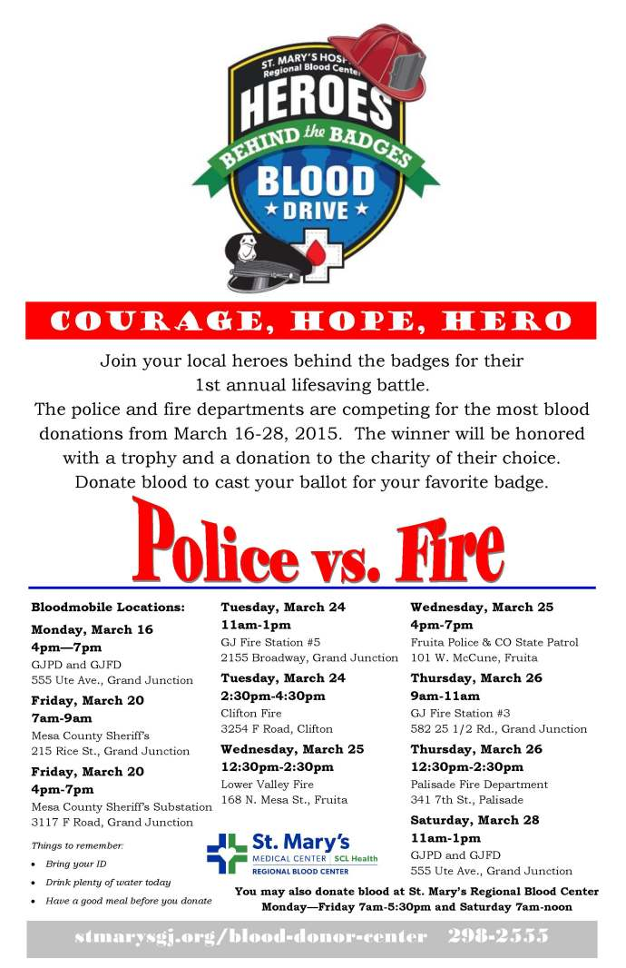 Heroes Behind the Badges, March 16-28.