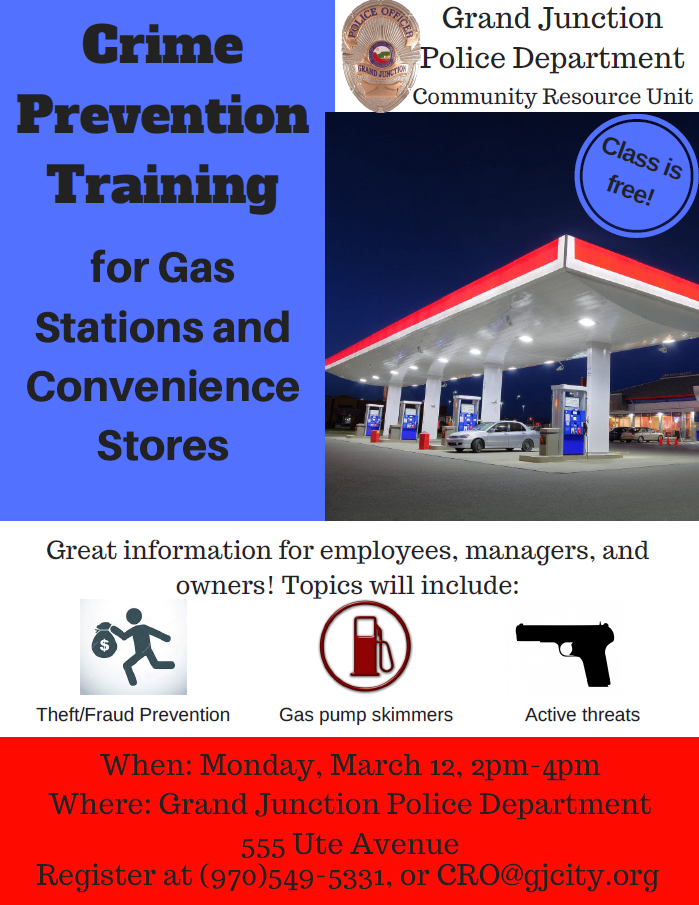 Gas station crime prevention class